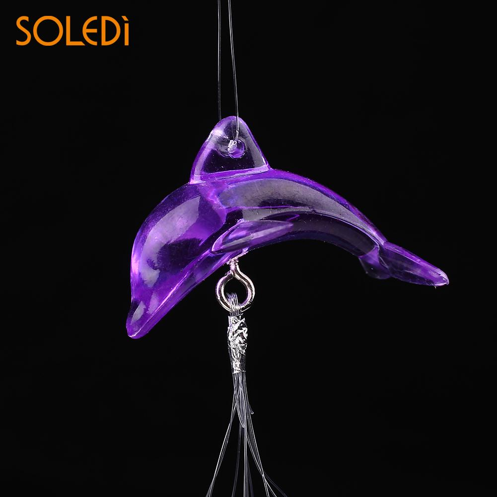 Дельфин Колокольчик колокольчик металлические трубы домашний подвесной Декор благословение на удачу