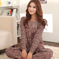 Free shipping Cardigan sleepwear female spring and autumn 100% cotton long-sleeve plus size women's autumn cotton lounge set