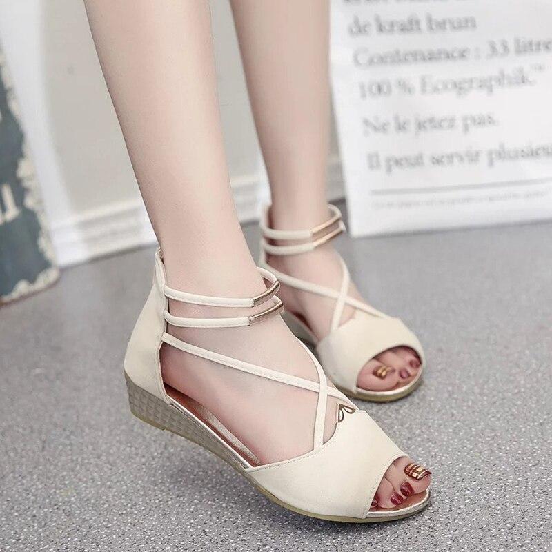 Женские босоножки женские туфли на танкетке сандалии на каблуке женские летние туфли Римские сандалии Дамские туфли на платформе для женщин