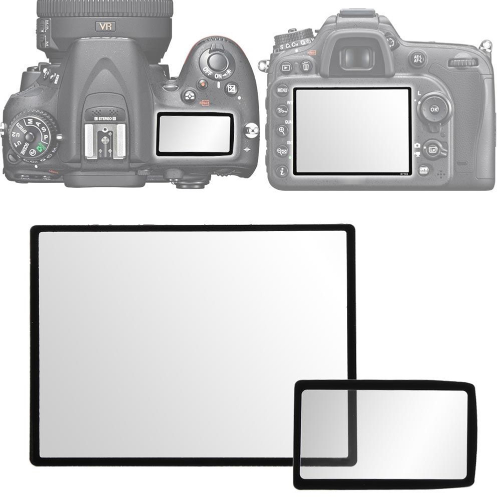 Camera Screen Protector LCD Protector Rigid Optical PC Cover Transparent body and black frame for Nikon D3100 D90 DSLR Camera