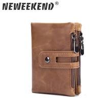 цена на Neweekend Brand 100% Top Quality Cow Genuine Leather Men Wallets Fashion Splice Purse Dollar Price Original Hasp Brown Black 568
