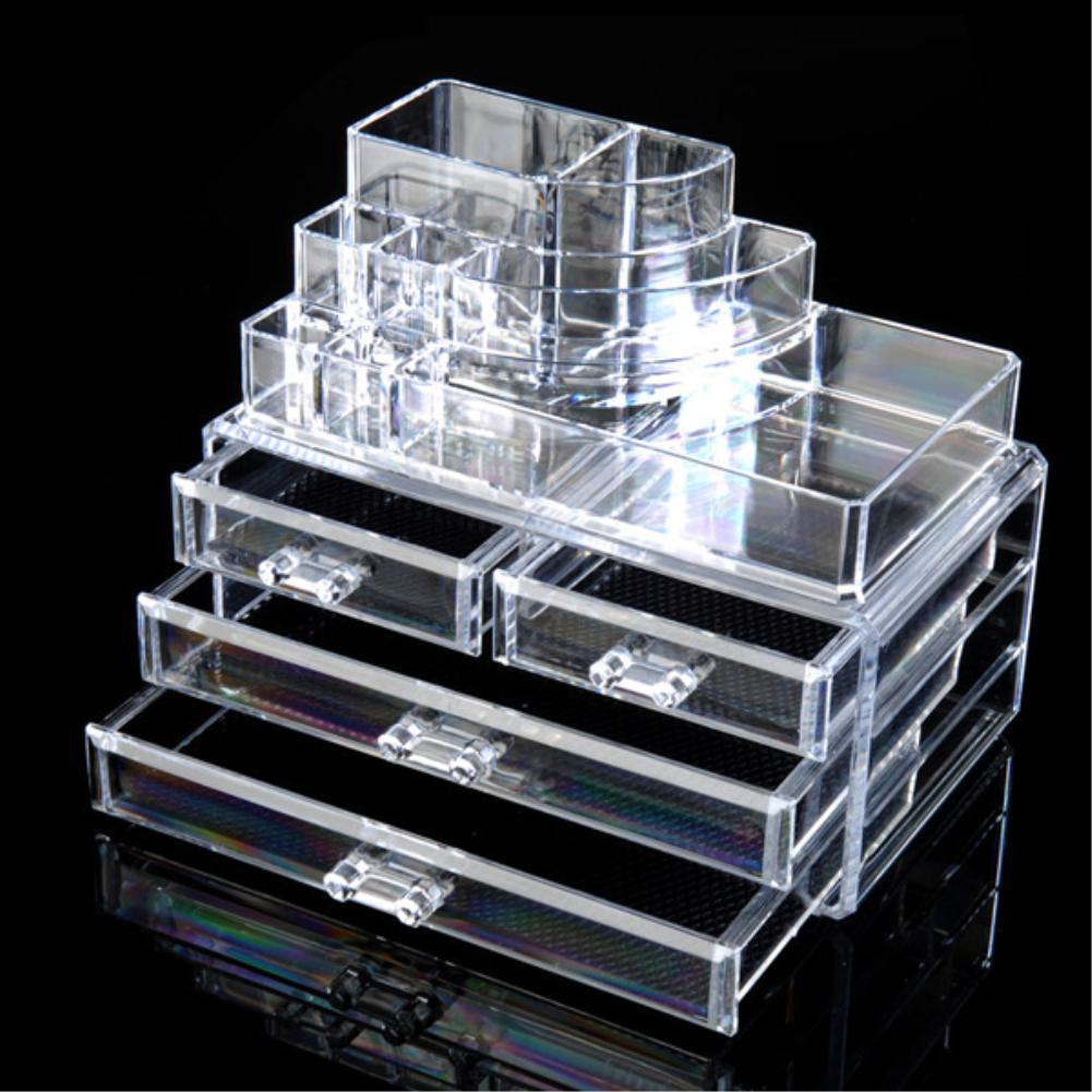 WITUSE Makeup Organizer For Cosmetic Display Stand Lipstick Storage Box Make Up Tools Brush Holder Home Organiser 3 4 Drawers