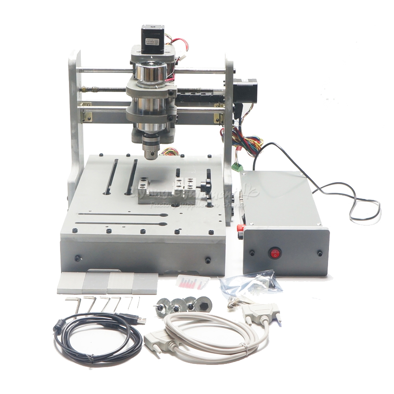 DIY Mini 3axis CNC Router Milling Machine Parallel port cnc 5axis a aixs rotary axis t chuck type for cnc router cnc milling machine best quality