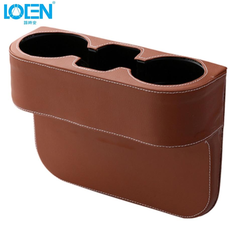 LOEN 상자 PU 가죽 휴대용 시좌 간격 컵 시가렛에 대한 - 자동차 인테리어 용 액세서리 - 사진 4