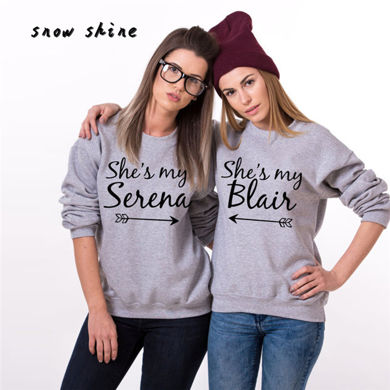 snowshine YLI She s My Serena Blair BFF Sweatshirts Best Friend Matching Pullover Tops free shipping