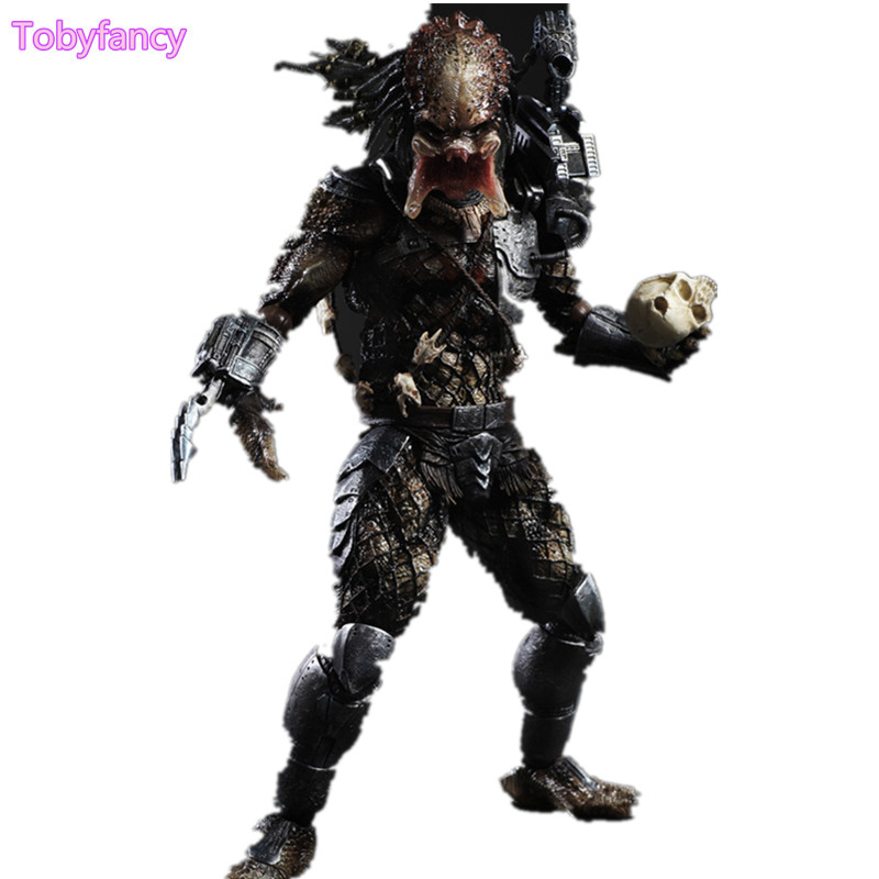 Predator Action Figure Play Arts Kai Master Wolf Anime Toy Movie Alien Hunter Play Arts Kai Predator 260mm Collection Model Toys stealth edition predator alien ganso elders lone wolf mask film may be moving even hand model h28
