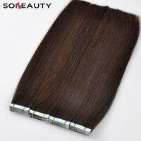 Sobeauty лента для наращивания волос импортные немецкие клеевые ленты для наращивания человеческих волос 100% настоящие бразильские волосы remy 20 ...