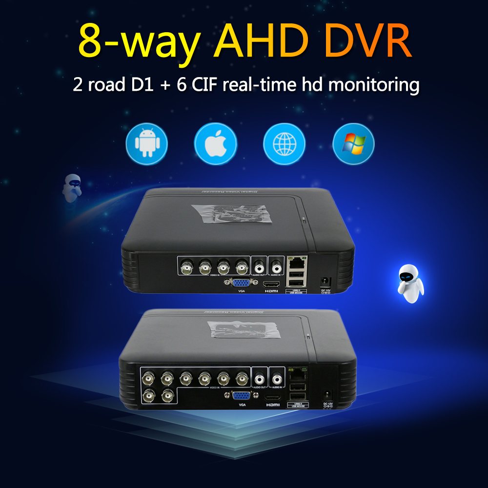Hiseeu AHD 1080N 5IN1 For CCTV Kit 8CH Camera CCTV DVR Mini DVR VGA Security System HDMI NVR For IP Camera Onvif PTZ DVR 43