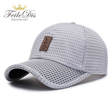 [FEILEDIS] Men Women Summer Snapback Quick Dry Mesh Baseball Cap Sun Hat Bone Breathable Trucker Hats JMM-20