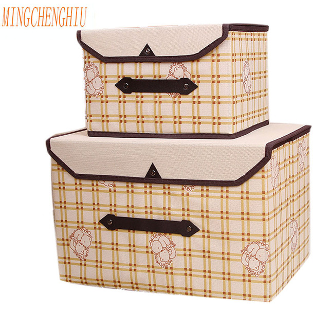 Brand New Fabric Folding Clothes Storage Box For Socks Underwear Ties Bra  Cosmetics Kid Toys Storage