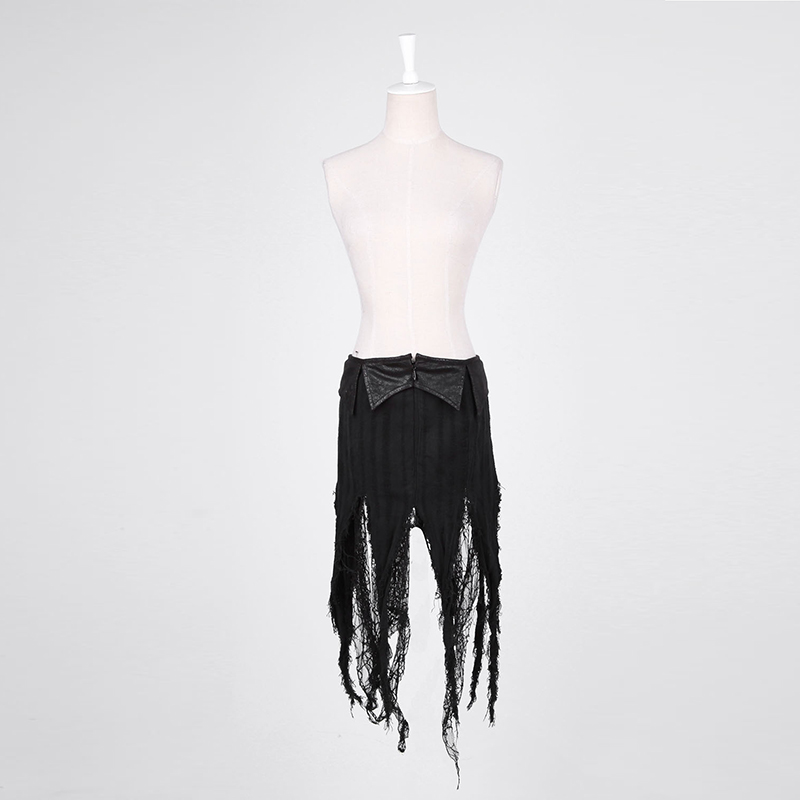 Taseel Fold 2017 Individualidad Verano Split Cómodo Faldas Negro Punk Falda Nuevas Partido Casual Mujeres qqHwB4z
