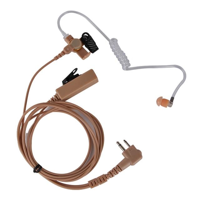 עבור שני בדרך מוטורולה GP88 M תקע אוזניות צינור אוויר אוזניות אוזניות עם ptt לcp040, CP200, GP300, מכשיר קשר רדיו GP88.