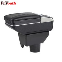 цена на Car Armrest Box Center Storage Box With Cup Holder Ashtray Arm Rest Rotatable Car-Styling For Toyota Yaris L Vios FS 2014-2018
