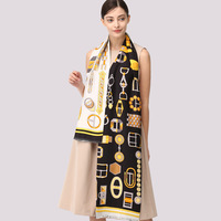 HL90009 spring and summer men and women Scarves 100% Silk Shawl business gift double layer long Scarf