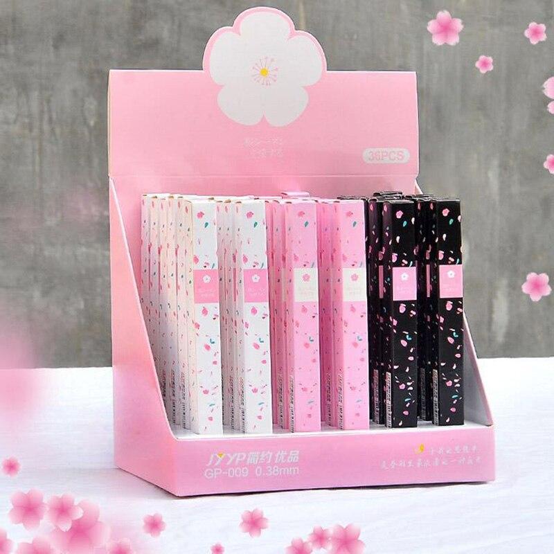 1 Pcs Kawaii Romantic Cherry Blossom Pen Japanese Gel Pens Neutral Pen 0.38mm For Girls Lovely Gift Office School Writing Supply