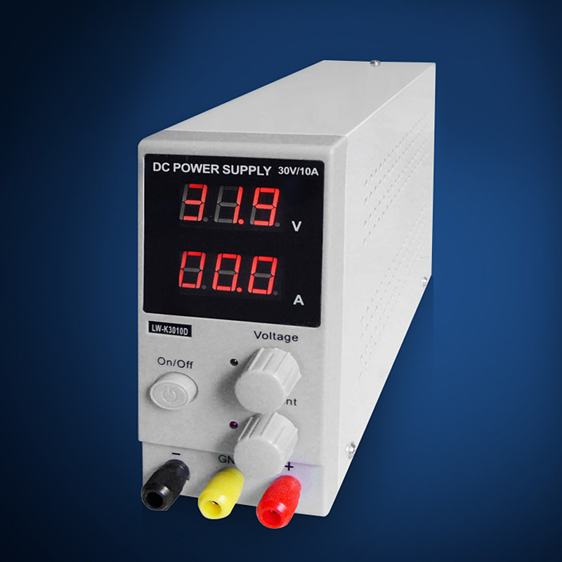 DC Power Supply Adjustable Switching Regulated LCD Dual Digital Display 30V 10A with Power Line 1200w wanptek kps3040d high precision adjustable display dc power supply 0 30v 0 40a high power switching power supply