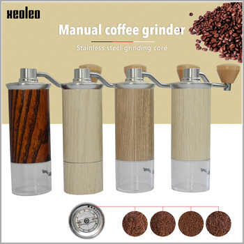 XEOLEO Aluminum Manual Coffee grinder Conical Burr grinder for espresso coffee Portable Coffee miller Espresso coffee machine - DISCOUNT ITEM  35% OFF All Category