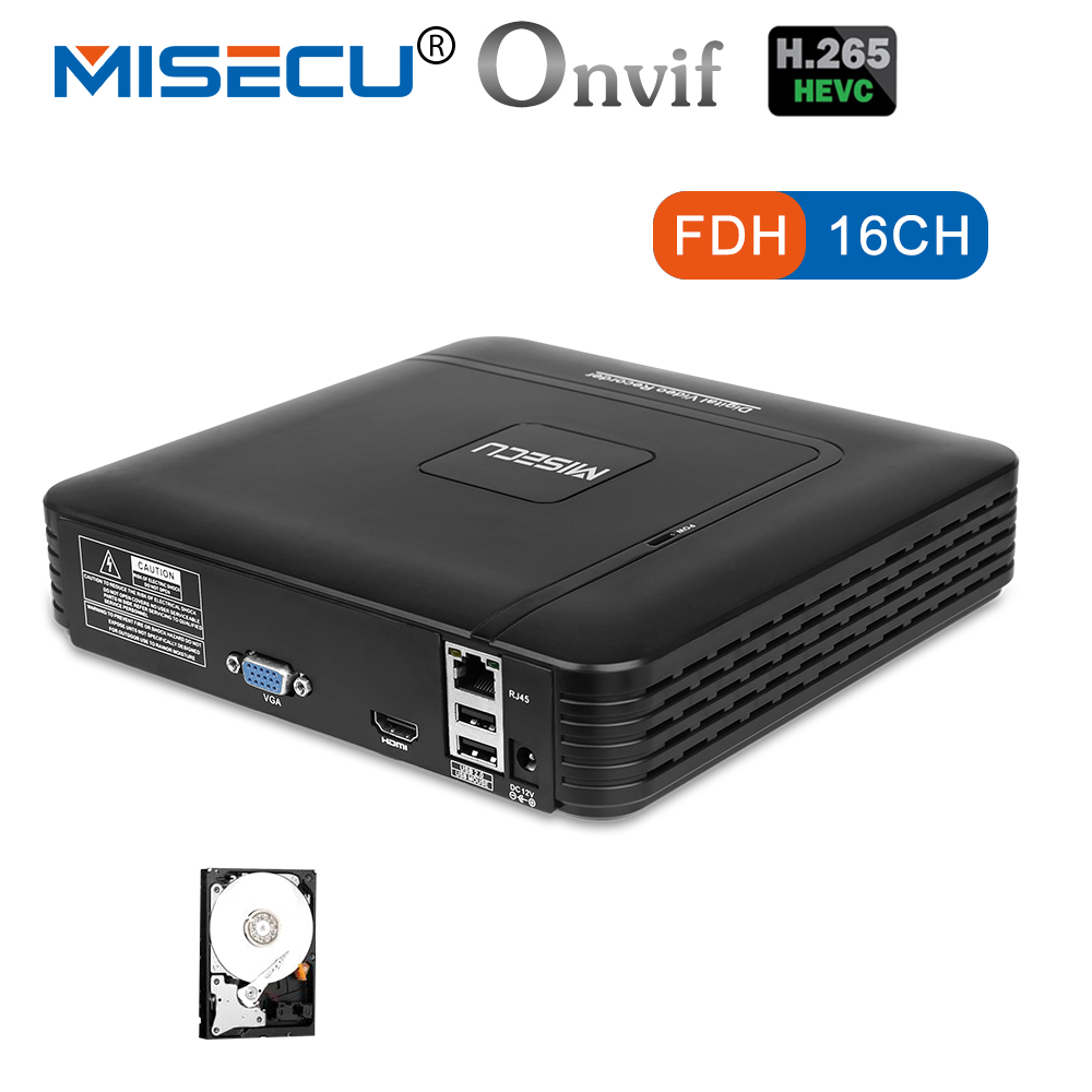 MISECU H.265 Mini NVR Full HD echt P2P 16CH/8CH 5MP 16CH 1080 p Video Recorder Bewegung Erkennen ONVIF für IP Kamera Sicherheit System
