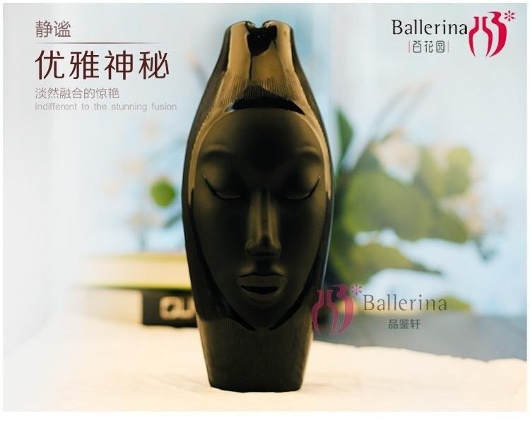 Сотня садов Творческий Афин богиня голова лицо стеклянная ваза и цветочная посуда