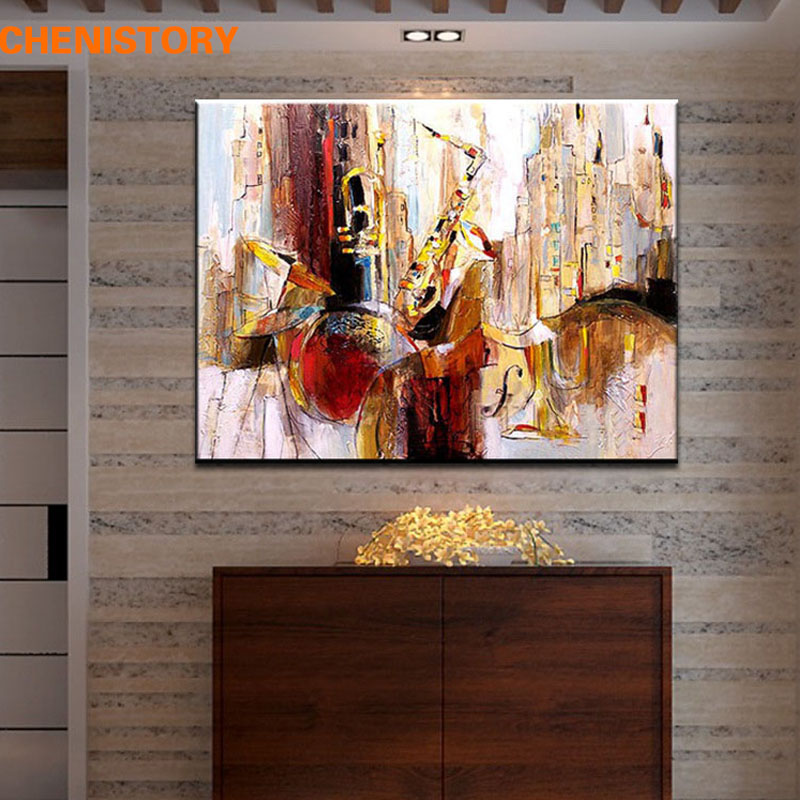 Artwork For Home Decoration: Unframed Handmade Party Show Abstract Modern Oil Painting