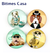 Bitimes 4pcs/lot Dog Fridge Magnets Animal Cartoon Refrigerator Sticker Gift Holder Home Decoration Accessory Ornament