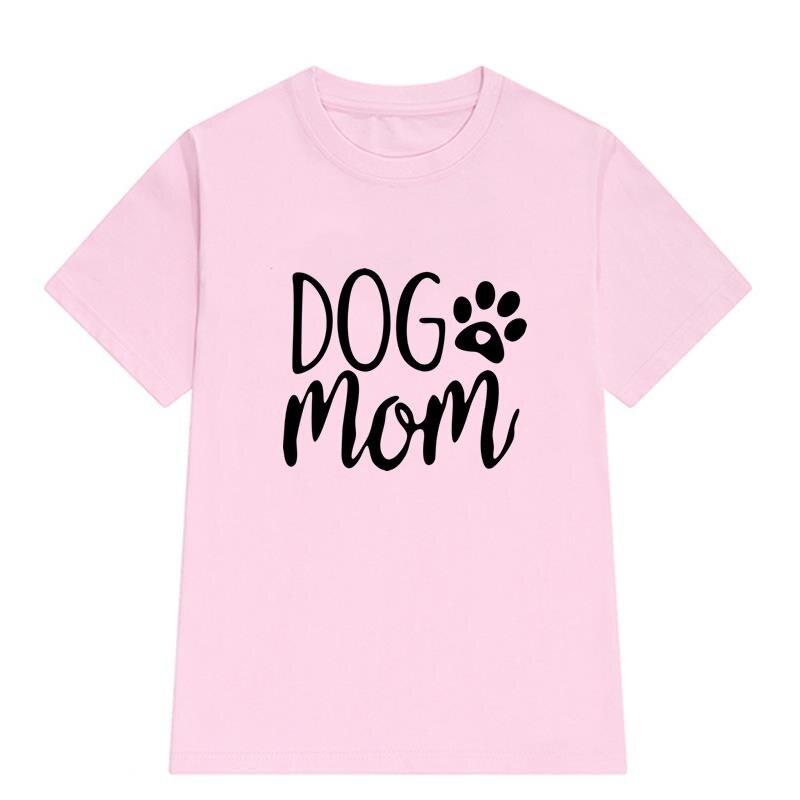 2018 Новая мода собака мама футболка с принтом Для женщин Мода Повседневное забавные Femme Kawaii силикона интересно женские футболки топы