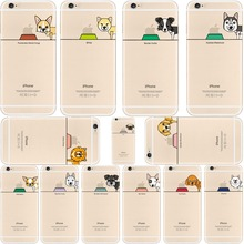 Cute Dog Eat Food Cases for Apple iphone 6 6s 6splus 7 7plus 5 5s se Bull Poodle Pugs Terrier Husky Samoyed Soft TPU Silicone