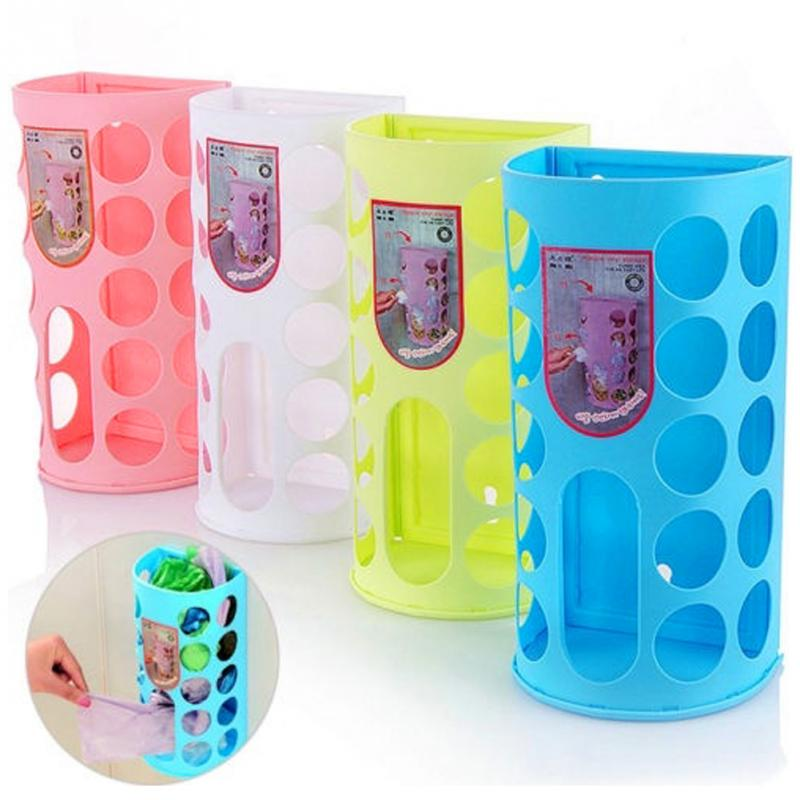 Bags Dispenser-Rack Storage-Stick-Holder Shopping-Carrier-Bag Rubbish-Bag Plastic Kitchen