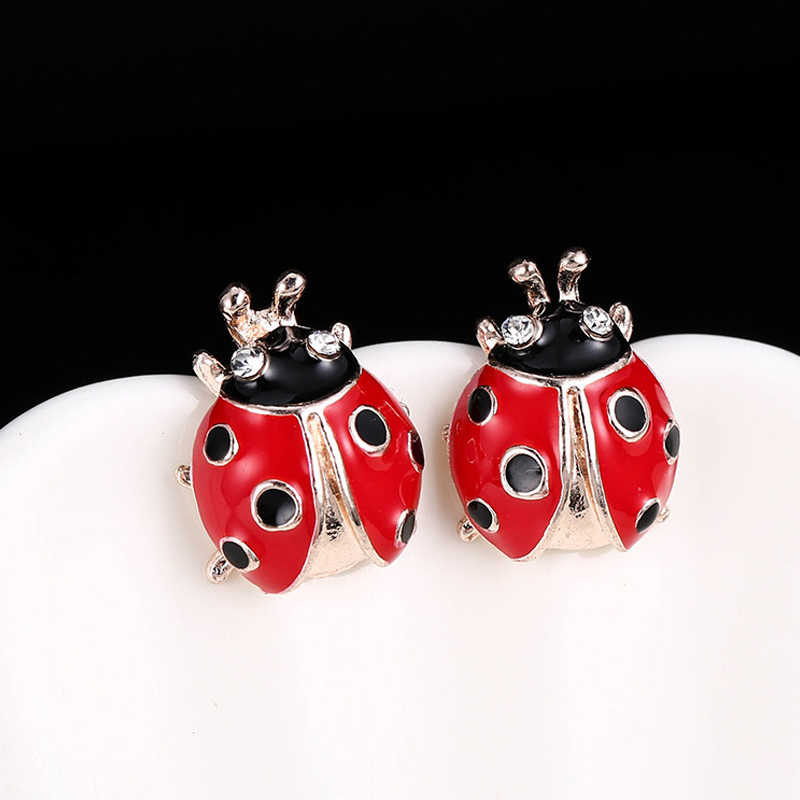 MODEBOX Miraculous Ladybug Earrings Punk Hyperbole Earrings Simple Zirconia Crystal Earring Gifts For Women