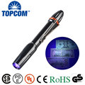 Pocket Pen Light 365nm 3W LED Ultraviolet Lamp UV Black Light Torch Pen Flashlight