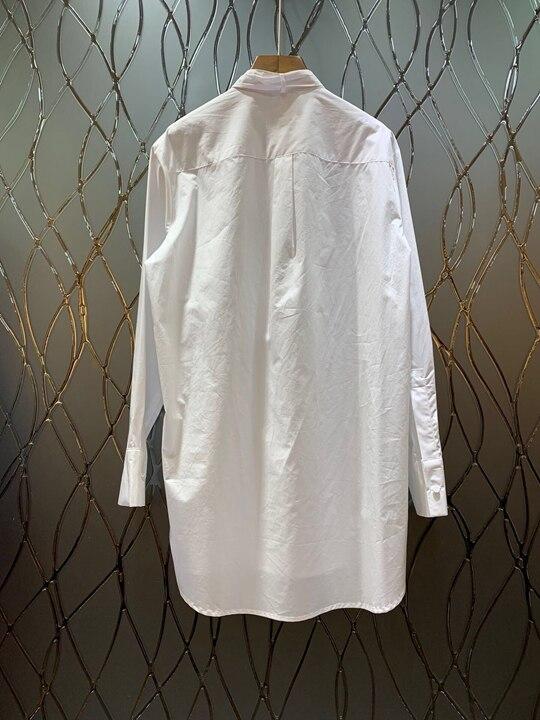 Au Poitrine Unique États Femmes Encolure 2019 Les Et L'europe Nouveau Début unis Bleu blanc Poche Cravate 121 De Collier Du Haut Printemps Nouée dqSaw4U