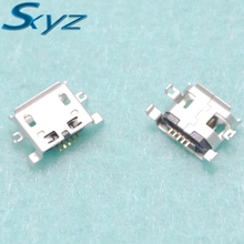 10pcs Micro USB Connector 5pin 0.8mm heavy plate B type have curling side Female Jack For Mobile Mini USB repair mobile tablet