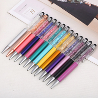 20pcs caneta mont Crystal Diamond Touch Metal Ballpoint Pen School Writing Office Supplies Stationery gift stylo papelaria kalem