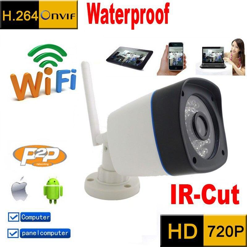 Câmera ip 720 p wi-fi HD P2P sistema de segurança cctv ao ar livre sem fio à prova d' água infravermelho mini cam Onvif Visão Nocturna do IR Camara
