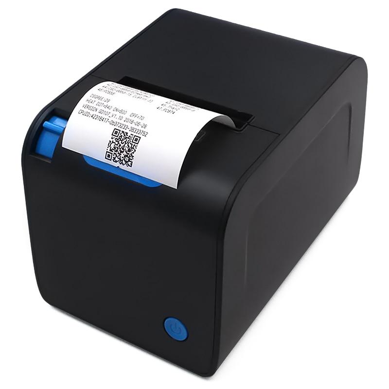 Imprimante à reçu thermique automatique 80mm YK-8032 conception d'impression thermique droite pour caisse enregistreuse USB