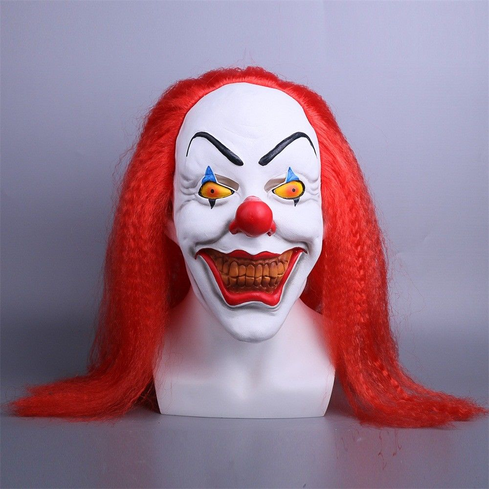 Red Stephen King's It Mask Cosplay Horrible Clown Pennywise Halloween Mask Latex Halloween Party