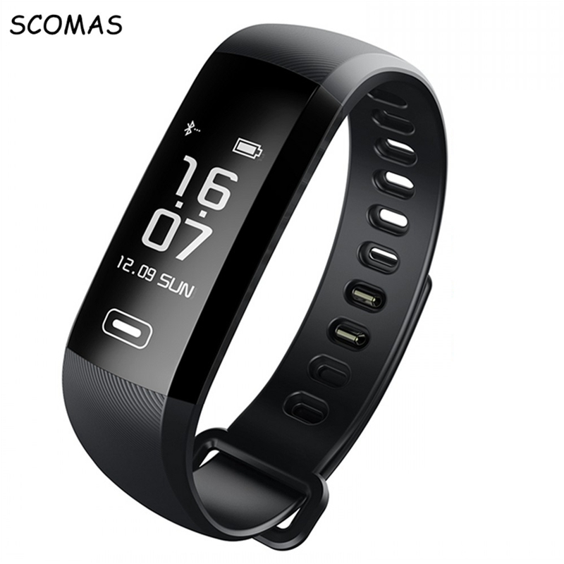 SCOMAS M2 Pro Smart WristBand Fitness Bracelet Watch Heart Rate Monitor Intelligent Weather Activity tracker Smart band watches