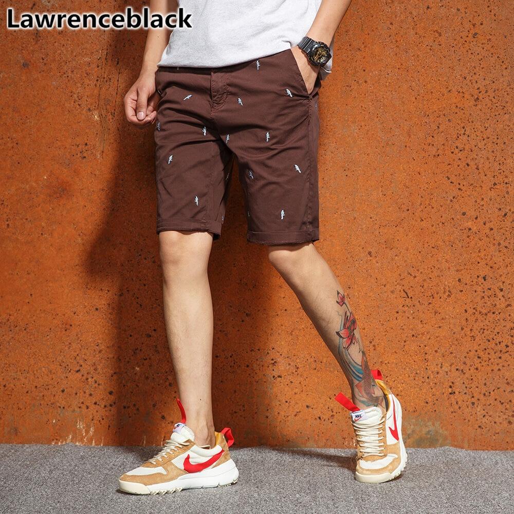 Herrenbekleidung & Zubehör Lawrenceblack Männer Bestickte Shorts 2018 Sommer Kalb-länge Bermuda Hosen Neuheiten Fashion Workout Böden Homme 1284 Rheuma Und ErkäLtung Lindern