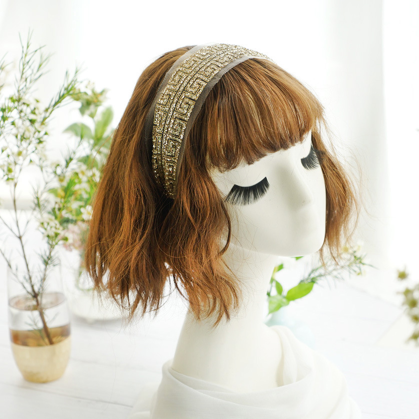 Korea Totem Light Gold Sequin Hairbands Diamond Hair Accessories Hair Bows Flower Crown Headbands For Women Hairband in Women 39 s Hair Accessories from Apparel Accessories
