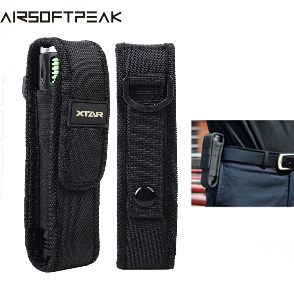 AIRSOFTPEAK XTAR T220 Flashlight Pouch LED Flashlight Pouch Holster Camping Hiking Belt Pouches Tactical For Fenix XTAR TZ20 цена