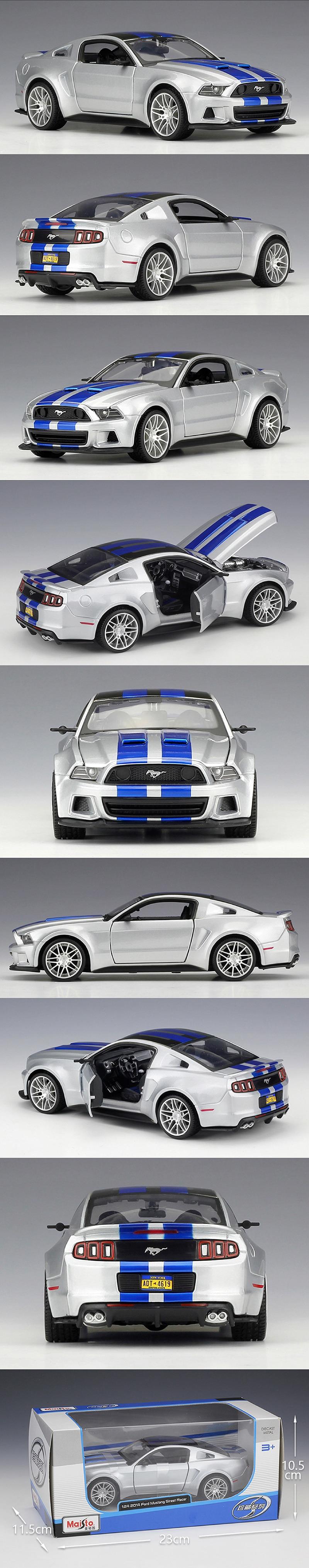 Ford Mustang Street Racer Diecast Model Car 6