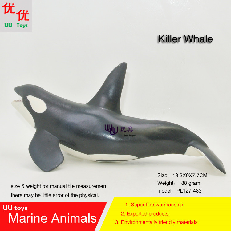 Hot toys new Killer whale Simulation model Marine Animals Sea Animal kids gift educational props (Orcinus orca ) Action Figures easyway sea life gray shark great white shark simulation animal model action figures toys educational collection gift for kids