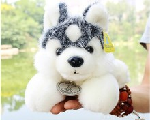 cute plush Husky dog toy high quality lying husky dog doll gray dog toy about 35cm