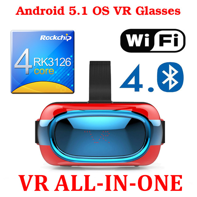 Android 5.1 3D Virtual Reality Glasses Support 3D Movie/Games/Video All In One 3D VR Box 2.0 II updated google cardboard