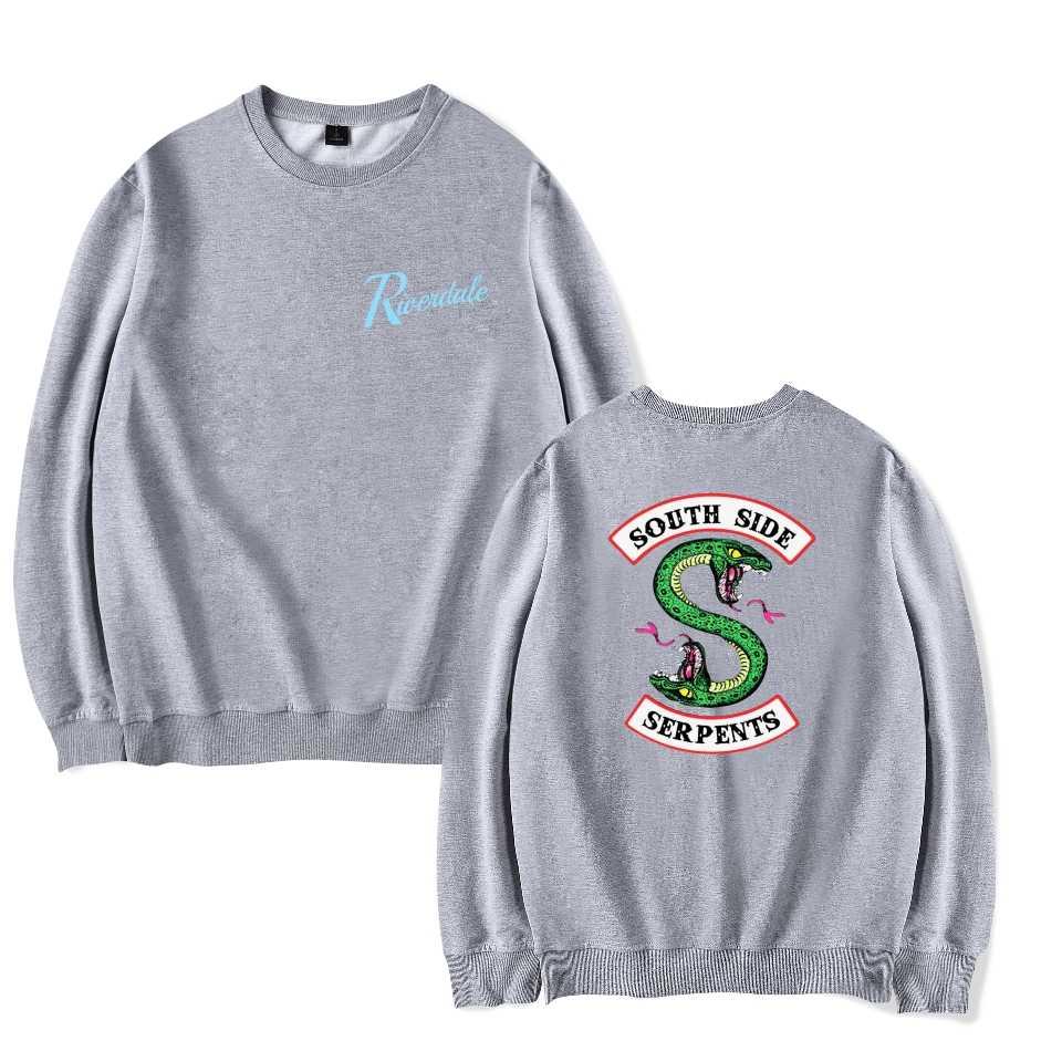 KELUOXIN Riverdale American TV Pullovers Hoodies Women Men Unisex Fans South Side Fleece Sweatshirt Capless Clothing Moletom