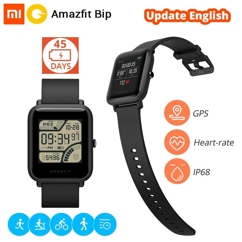 Xiaomi huami Amazfit Bip Смарт-часы [английская версия] Спортивные часы темп Lite Bluetooth 4.0 GPS сердечного ритма 45 дней Батарея IP68