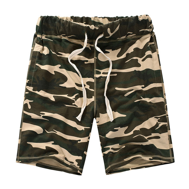 AMY COULEE European USA style Camouflage Pocket Cargo Shorts Men Casual Cotton Summer