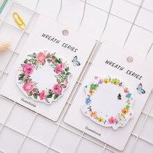 3 шт. романтический Сакура красивые цветы самоклеящиеся N раз заметки закладку Блокнот школа канцелярских товаров