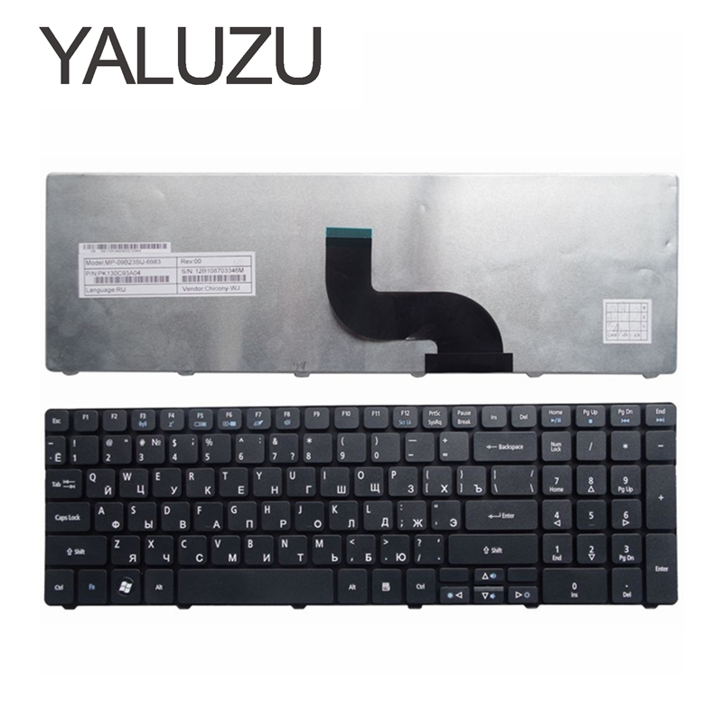 YALUZU NEW Russian Keyboard For Packard Bell NE71B Q5WTC Z5WT1 V5WT2 Q5WV1 Z5WT3 Z5WTC F4036 LE EG70 EG70BZ Laptop RU Black