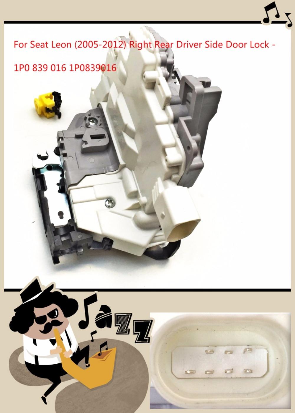Задний правый только для SEAT Leon механизм защелки двери/привод замка двери 1P0839016 1P0 839 016